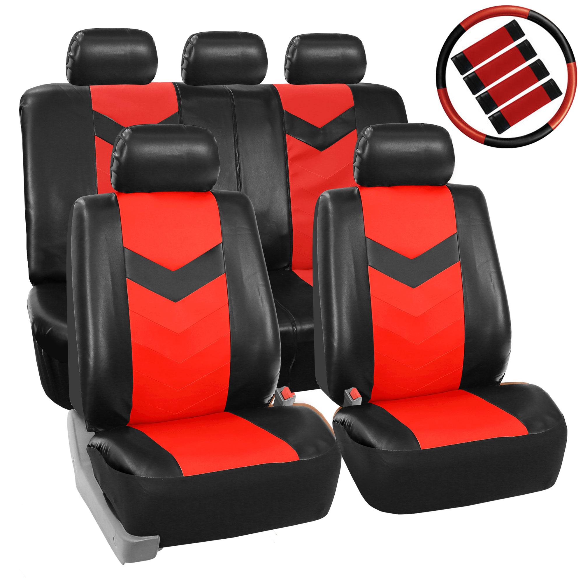Auto Parts Accessories Seat Covers Split Bench 30pc Solid Black Steering Wheel Belt Headrest For Suvs Shelbysharrison Com