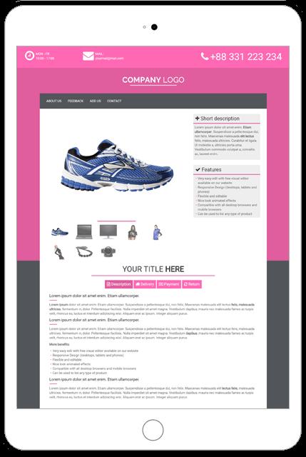 ebay store template tutorial - premium template tu02 pink ebay templates listing shop