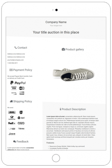 ebay simple listing template SL04