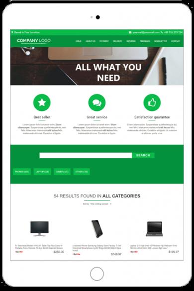 Ebay store premium template STU03-GREEN